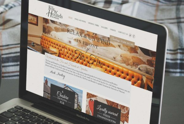 Web design for Fox & Hounds, Sproston, Cheshire