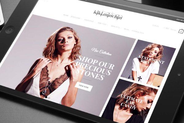 Website design for Kiki Minchin Jewellery
